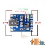 Модуль для заряда аккумуляторов 3.7 V