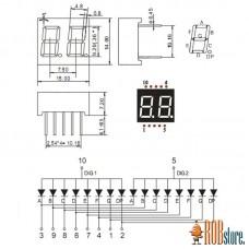 LED Индикатор два числа