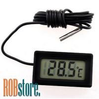 Термометр цифровой чёрный