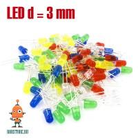 Набор светодиодов 3 мм