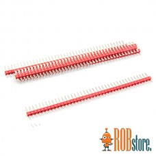 Красный штыревой соединитель 40pin, 1 Шт.