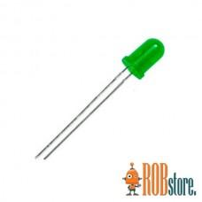 Светодиод 5мм Зеленый