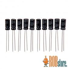 Конденсаторы электролитические на 220 мкФ  (10 шт.)