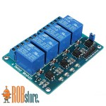 Реле модуль для Arduino. 4-х канальный  5В.