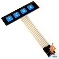 Эластичная клавиатура 4 кнопки