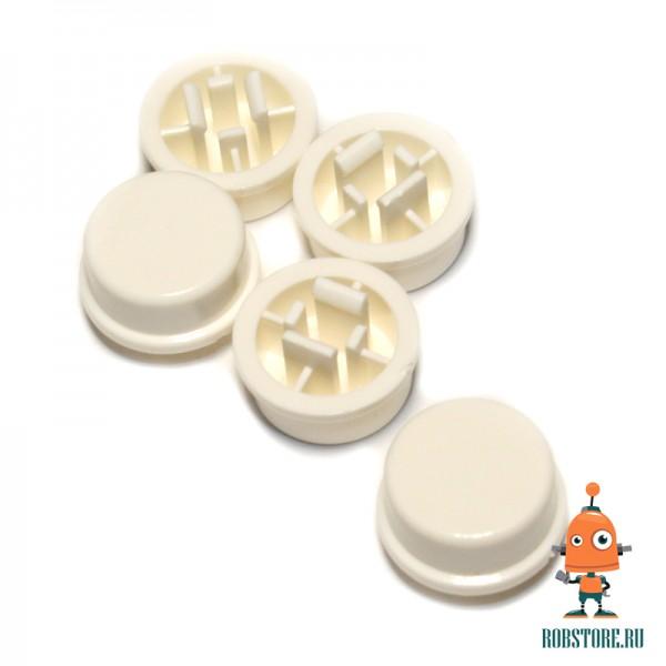 Круглый колпачок на кнопку Белый