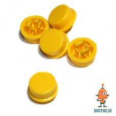 Круглый колпачок на кнопку Жёлтый