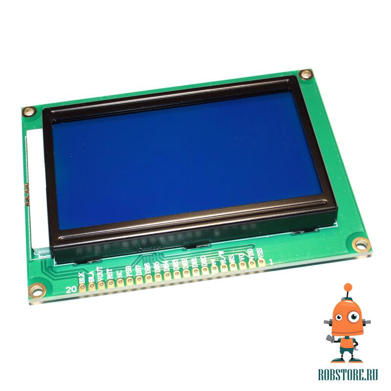 Графический дисплей WG12864 синий