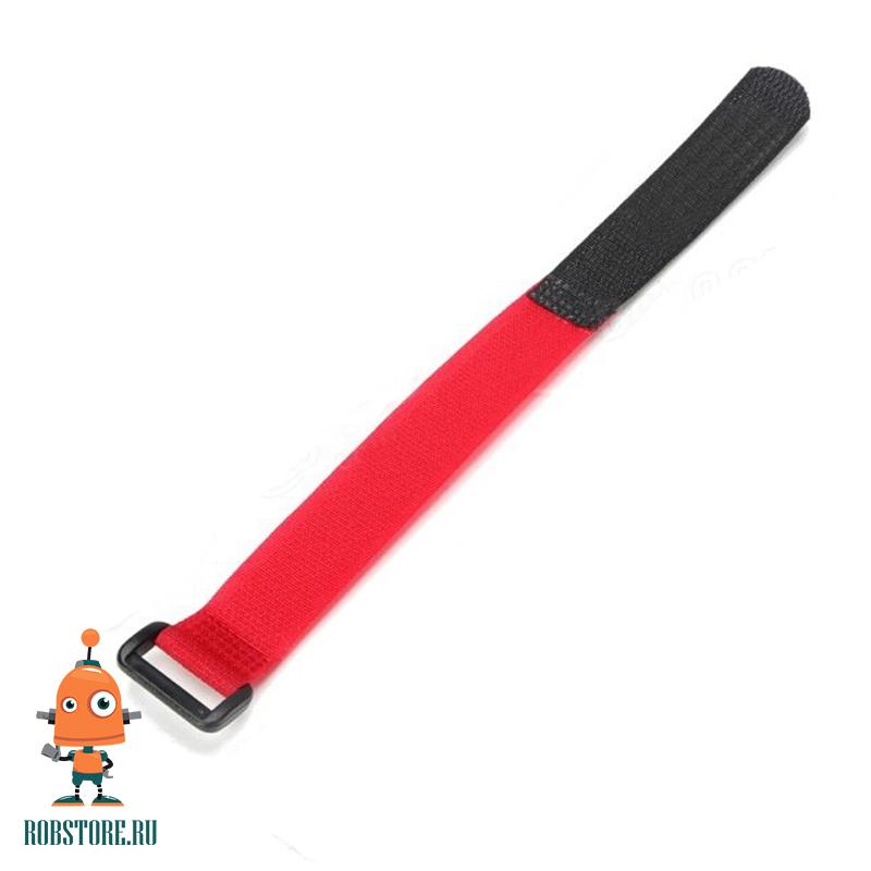 Красная стяжка-липучка
