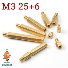 Стойка М3 25+6мм