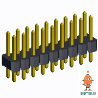 Двойной штыревой соединитель черный 2*40pin, 1 Шт.