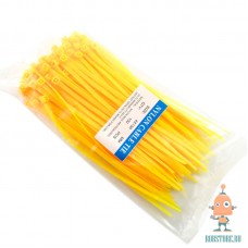 Хомут-стяжка 100шт. цвет желтый