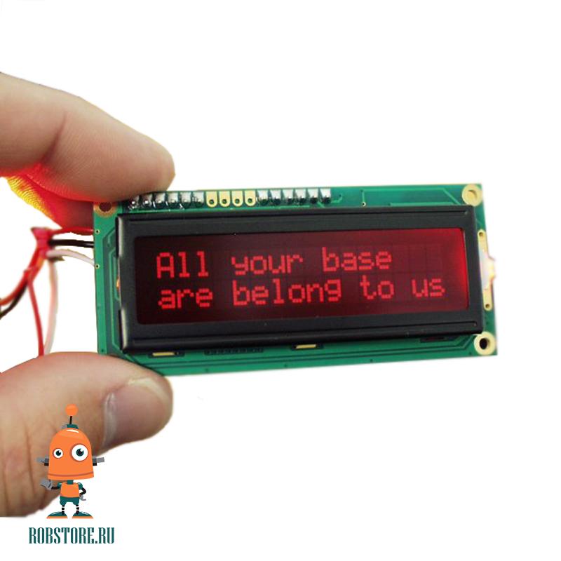 LCD 1602A VATN Красный