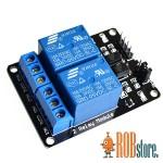 Реле модуль для Arduino. 2-х канальный  5В.
