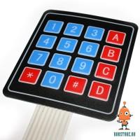 Эластичная клавиатура 4x4 кнопки