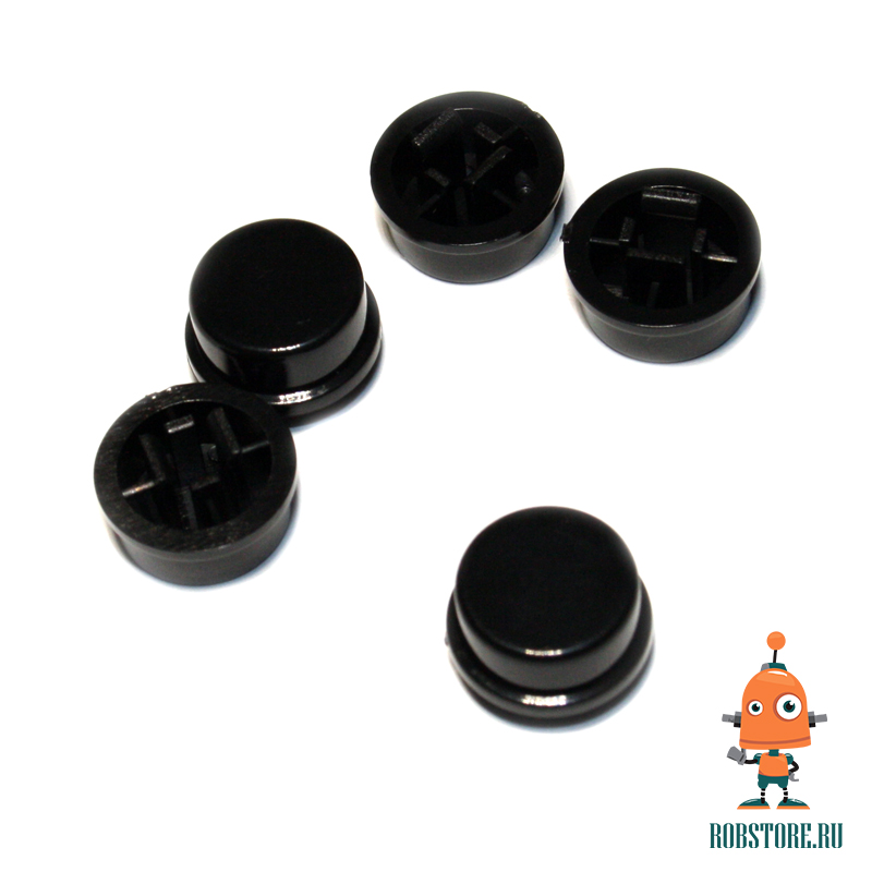 Круглый колпачок на кнопку Чёрный