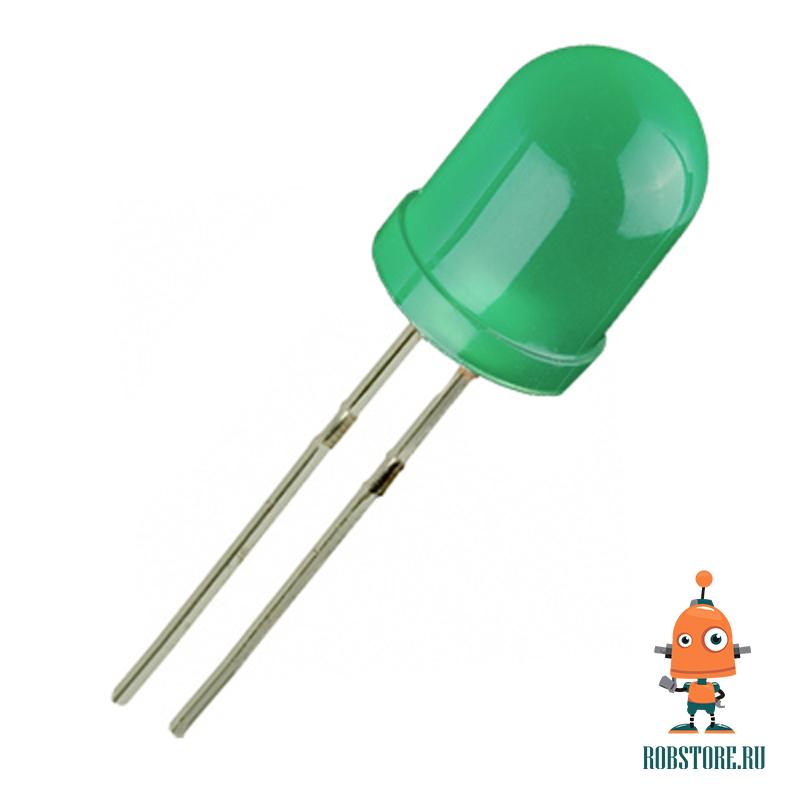 Светодиод 10мм Зеленый