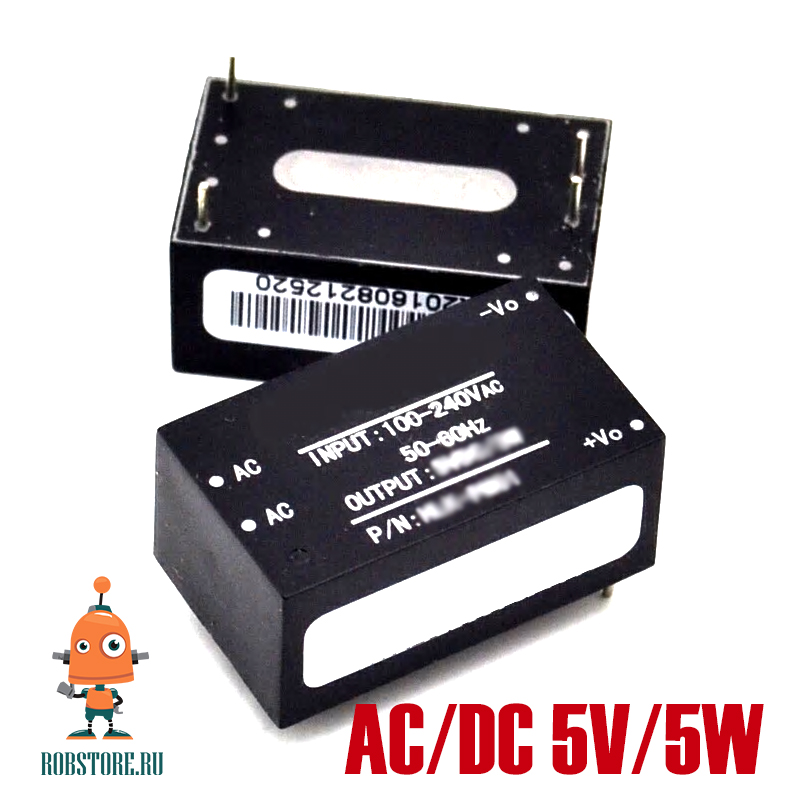 Изолированный модуль питания HI-LINK HLK-5M05 5V/5W DC