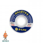 Оплетка для удаления припоя Zhongdi ZD-180, 3 мм